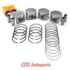 """92-96 Honda Prelude Si 2.3L H23A1 Engine .020""""=.50mm Over P14 Pistons+Rings Set"""