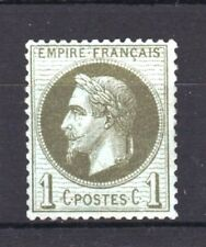 "FRANCE  STAMP TIMBRE YVERT 25 "" NAPOLEON  III 1c BRONZE 1870 "" NEUF xx TTB T223"