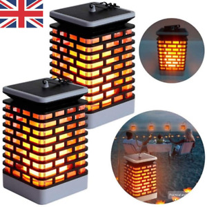 Solar Power 99 LED Lantern Light Flickering Flame Hanging Lamp Decor for Garden