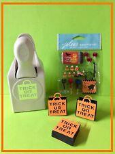 Martha Stewart TRICK OR TREAT Punch *BONUS Jolee's Plus Template to make bag!