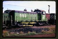 1973 BN Burlington Northern NW2 at Vancouver, WA, Original Slide c8a