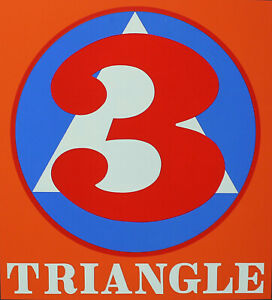 ROBERT INDIANA - Triangle. Unsignierter Farb-Siebdruck. Domberger Stuttgart.