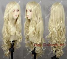 Wigs,blonde longue Ondulé santé cosplay Costume cheveux perruques