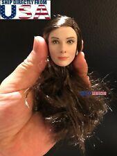 """1/6 Audrey Hepburn Female Head Sculpt PALE For 12"""" PHICEN Hot Toys Figure U.S.A."""