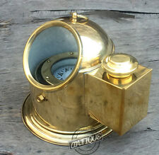 Valentine Shiny Brass Antique Style Ornament Decor Compass Binnacle Floating