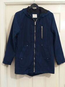 girls navy blue, lightweight, zara coat 11-12yrs