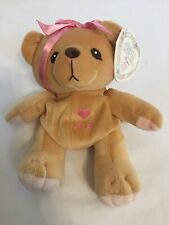 cherished teddies Light Beige With Heart Name (Ava) And Pink Bow 7.5 Inches