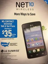"LG Sunrise Android Smartphone (NET10)Dual-Core WiFi Enabled 3.8"" DISPLAY EW 199A"
