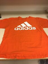 Adidas T Shirt Mens Xl Tg Orange Cotton The Go To Tee Nice!