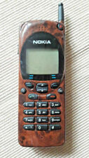 Mobile NOKIA NHE-4NHX (1995) in  Wurzelholzoptik +KULT: DAS BRIKETT+