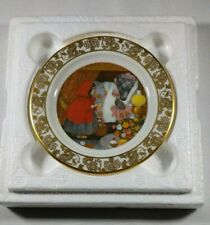 1979 Franklin porcelain Red Riding Hood Best Loved Fairy Tales Display plate
