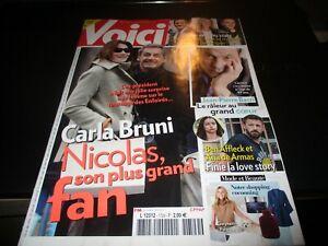 """Revue """"VOICI N°1729 - 2021"""" Carla BRUNI & Nicolas SARKOZY, Jean-Pierre BACRI"""