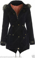 Abrigos y chaquetas de mujer Parka color principal negro 100% algodón