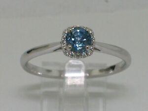 Aktion  Saphir Ring 585 Weißgold 14Kt Gold natürlicher Saphir  16 Brillanten