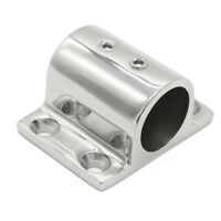 Stainless Steel Boat Hand Rail Fitting 25mm Tube Rectangle Stanchion Base Mount