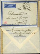 ITALY 1944 AIRMAIL CENSOR PATRIOTIC SLOGAN...PROPELLER ENVELOPE...to RED CROSS