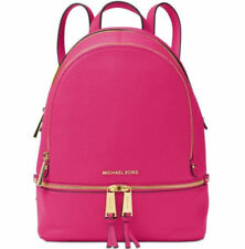 NWT Michael Kors Rhea Zip Small Size Backpack Ultra Pink Leather  FACTORY SEALED
