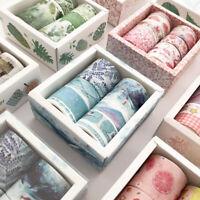 8st Floral Washi Tape Set DIY Scrapbooking Masking Sticker Aufkleber Tagebuch