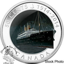 Canada 2014 50 Cents Lost Ships in Canadian Waters RMS Empress of Ireland Coin