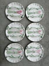 Lot 6 assiettes asperge asparagus plate  céramique Ceramic