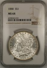 1888 Morgan Silver Dollar $1 Coin NGC MS-64 (13)