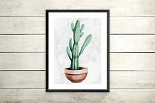 Cactus marble Print, Wall Art Prints, Minimalist Prints, Cactus Art, UNFRAMED