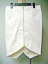 Willow, Front Zip, Asymmetrical, White Denim Skirt, Size AU 14, US 10