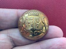 Felix Comte de Villebois-Mareuil w Greyhound 31mm Gilt Livery Button Paris 1845