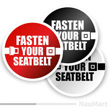 FASTEN YOUR SEATBELT sign. Sticker / decal (ST704)