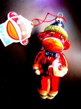 Mercury Glass Sock Monkey Monkeez Christmas Ornament By Seasons Of Cannon Falls