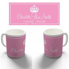 PERSONALISED NEW BABY GIRL KEEPSAKE GIFT COFFEE MUG TEA CUP BIRTHDAY CHRISTENING