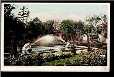 1904 fountain Canfield Park Saratoga New York landscape postcard