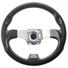 Boat Steering wheel Sports Wheel Black Carbon 350 mm Power Boat Boss Kit New