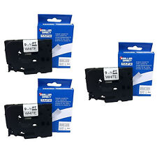 3 x BROTHER COMPATIBLE TZ221 LABEL TAPE FOR P-TOUCH PT1200 PT1230PC PT2730