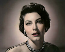 """AVA GARDNER HOLLYWOOD ACTRESS & MOVIE STAR 8x10"""" HAND COLOR TINTED PHOTOGRAPH"""