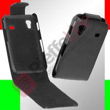 custodia eco PELLE nera per SAMSUNG S5830 GALAXY ACE