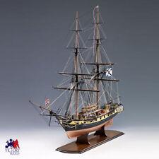 "Amati Russian Brig Mercury 34"" Wooden Tall Ship Model Kit Victory Series"