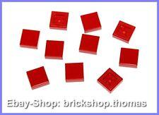 Lego 10 x Fliesen rot (1 x 1) - 3070b - Tile Red - NEU / NEW