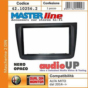 MASCHERINA AUTORADIO 2 DIN SOLO CORNICE PER ALFA ROMEO MITO DAL 2014 IN POI NERO