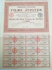 Action et titre COMPAGNIE FRANCAISE FILM JUPITER 1921