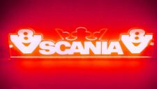 ROSSO V8 Interno 24V ABITACOLO LUCE LED TARGA PER SCANIA Crown & V8 STEMMA