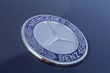 Original Mercedes AMG Stern Emblem Logo flach Motorhaube blau Lorbeer NEU