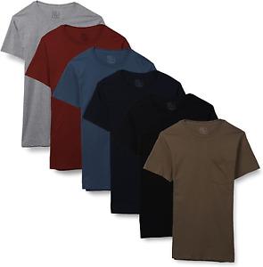 Fruit of the Loom Mens Short Sleeve Fashion Pocket T-Shirts (6 Pack)