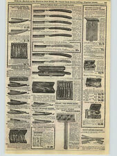 1909 PAPER AD Karl Engel & sons Kronprinz Straight Razor Wade & Butcher Morley +
