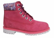 Timberland 6 Inch Premium Lace Up Pink Waterproof Junior Boots A1732 B5A