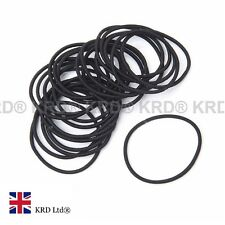 24 x Thin Elastics Hair Tie Bands Black Bobbles Band Ponytail Ponytailers UK B3