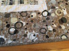Handmade Lap / Twin Quilt-Neutral Colors, reversible Kaffe Fassett 54 x 71