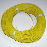 24AWG Yellow Soft Silicone Wire 10M Bending & Cold-freeze & High-temp Resistant