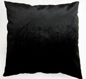 Mo80a Plain Black Shimmer Velvet Style Cushion Cover/Pillow Case *Custom Size*