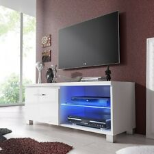 TV Cabinet with LED of Cortesia White Modern for Living Room Saline Small